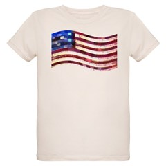 USA Flag quilted: T-Shirt