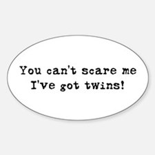 Can't Scare Oval Decal