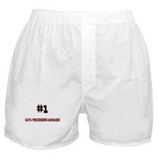 Number 1 DATA PROCESSING MANAGER Boxer Shorts