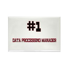 Number 1 DATA PROCESSING MANAGER Rectangle Magnet