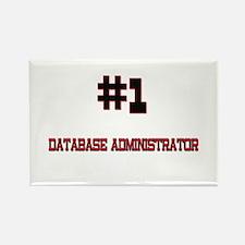 Number 1 DATABASE ADMINISTRATOR Rectangle Magnet