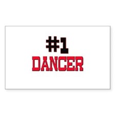 Number 1 DANCER Rectangle Decal