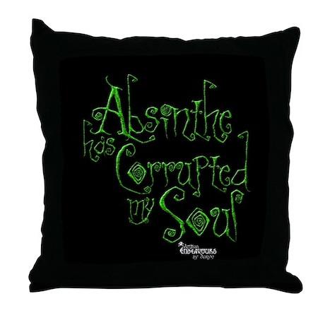 derynArts Absinthe has Corrupted Throw Pillow
