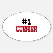 Number 1 CURRIER Oval Decal