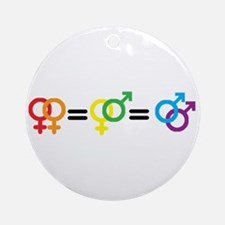 Gay Rights Ornament (Round)