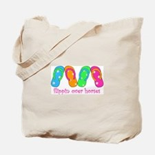 FLIPPING OVER HORSES Tote Bag