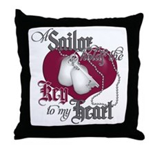 A Sailor Holds the Key to my Throw Pillow