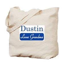 Dustin loves grandma Tote Bag