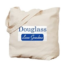 Douglass loves grandma Tote Bag