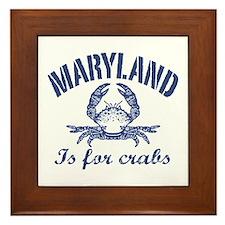 Maryland Is for Crabs Framed Tile