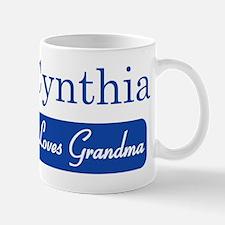 Cynthia loves grandma Mug