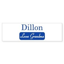 Dillon loves grandma Bumper Bumper Sticker