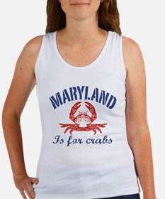 Maryland Is for Crabs Women's Tank Top