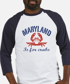 Maryland Is for Crabs Baseball Jersey