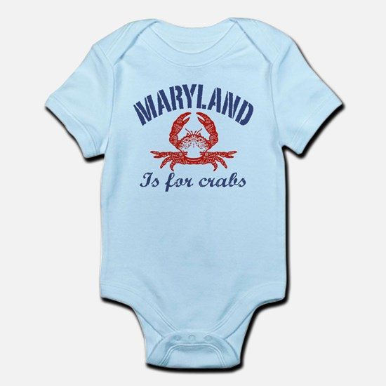 Maryland Is for Crabs Infant Bodysuit