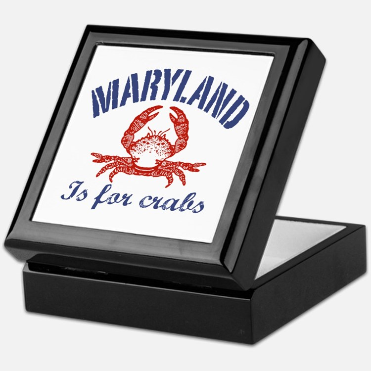 Maryland Is for Crabs Keepsake Box