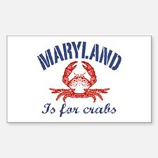 Maryland Is for Crabs Rectangle Decal
