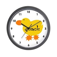 Quack the Duck Wall Clock