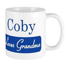 Coby loves grandma Small Mug