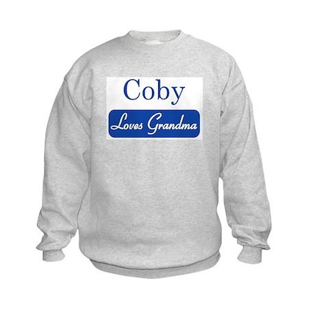 Coby loves grandma Kids Sweatshirt