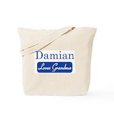 Damian loves grandma Tote Bag