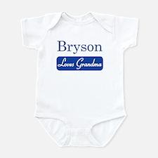 Bryson loves grandma Infant Bodysuit