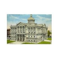 Court House 2 Huntington Indi Rectangle Magnet