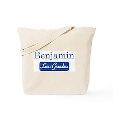 Benjamin loves grandma Tote Bag