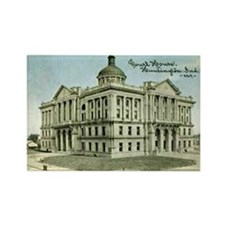 Court House 3 Huntington Indi Rectangle Magnet