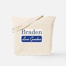 Braden loves grandma Tote Bag