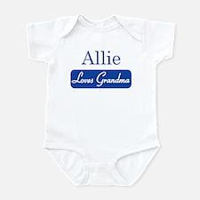 Allie loves grandma Infant Bodysuit