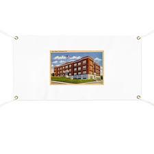 Old High School Huntington In Banner