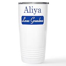 Aliya loves grandma Travel Mug