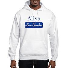 Aliya loves grandma Hoodie Sweatshirt
