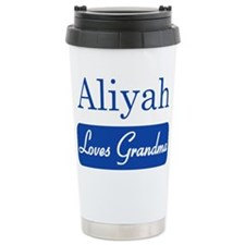 Aliyah loves grandma Travel Mug