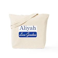 Aliyah loves grandma Tote Bag