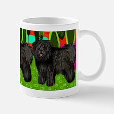Black Puli Dogs Art Mug