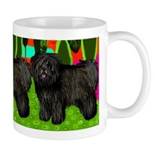 Black Puli Dogs Art Mug
