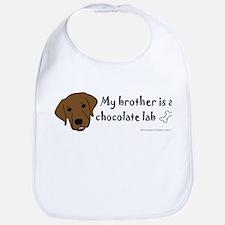 chocolate lab Baby Bib