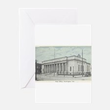 Old Post Office Huntington In Greeting Card
