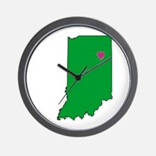 State Map Indiana Wall Clock