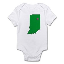 State Map Indiana Infant Bodysuit