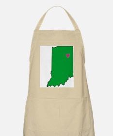 State Map Indiana BBQ Apron