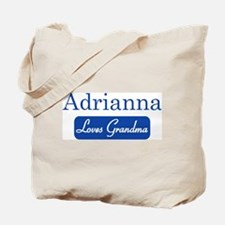 Adrianna loves grandma Tote Bag