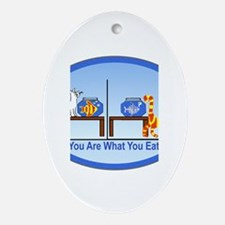 What You Eat Oval Ornament