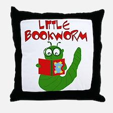 Little Bookworm Throw Pillow