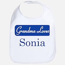 Grandma Loves Sonia Bib