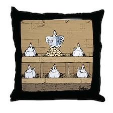 Hen's Life Throw Pillow