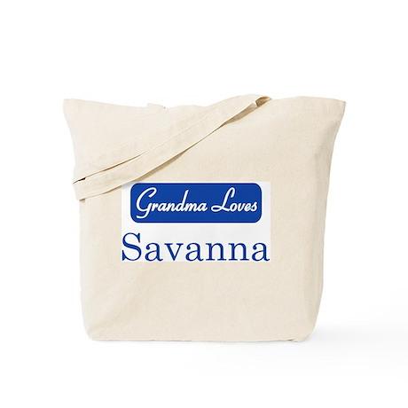 Grandma Loves Savanna Tote Bag