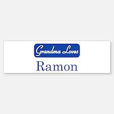 Grandma Loves Ramon Bumper Bumper Bumper Sticker
